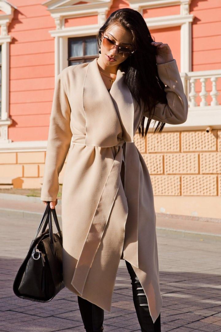 Пальто с поясом  классика 20/7036