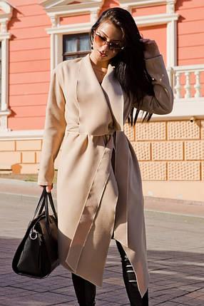 Пальто с поясом  классика 20/7036, фото 2