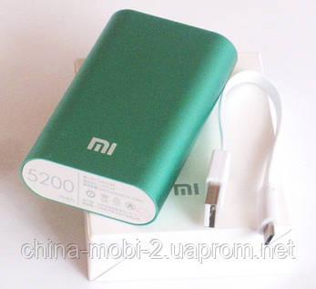 Универсальная батарея - Xiaomi power bank MI 2, 5200 mAh, green, фото 2