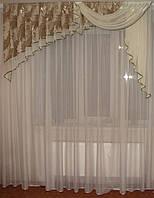 Ламбрикен Ассиметрия 2м оливковобежевый, фото 1