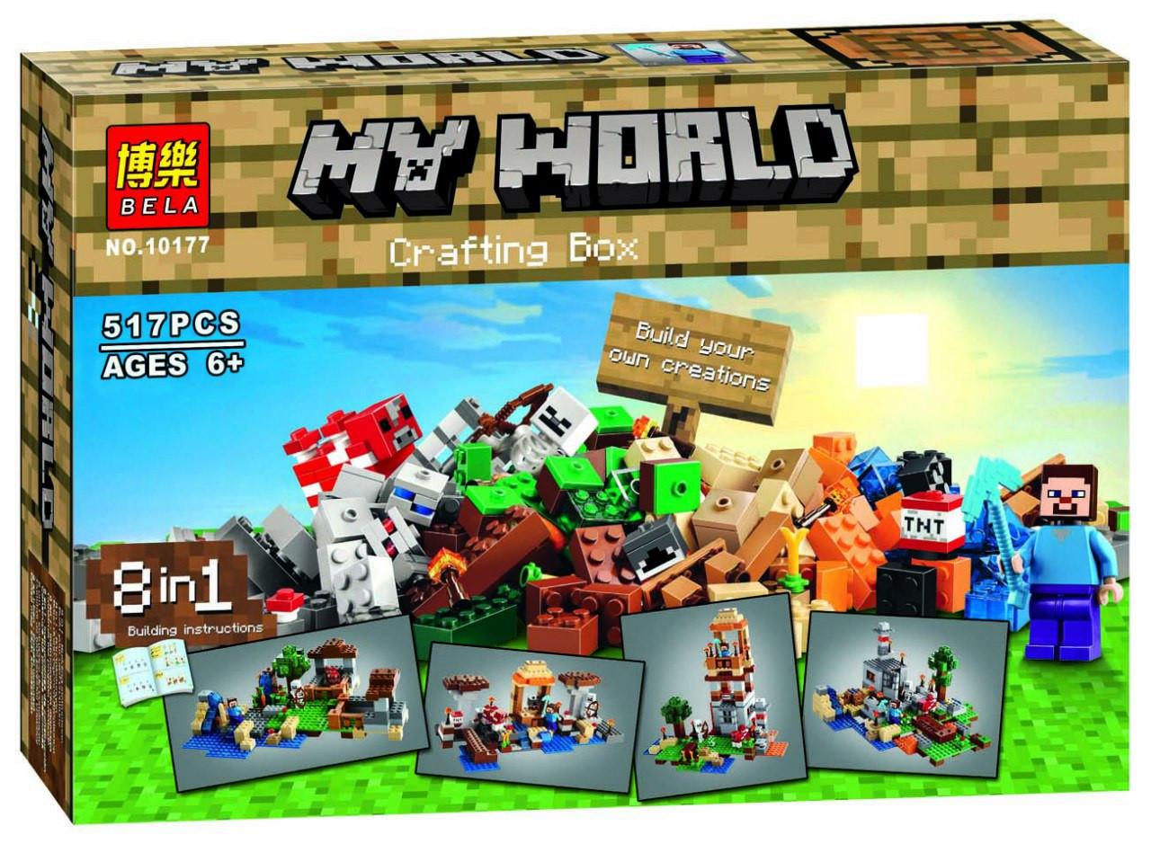 """Конструктор Bela 10177 Minecraft """"Верстак: 8в1"""" 517 деталей"""