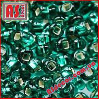 Бисер Preciosa 10/0 #57710 - зеленый изумрудный королевский