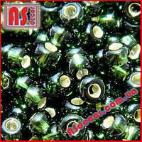 Бисер Preciosa 10/0 #57290 - темно-зеленый королевский