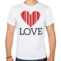 Мужская футболка «LOVE - штрихкод»