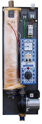 Котел електричний Unimax 6 кВт/380 з циркуляційним насосом в комплекті, фото 2