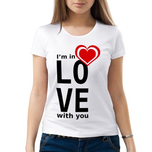 Женская футболка «In love woman»