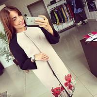 Женское стильное демисезонное кашемировое пальто Маки АБ 0314