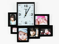 Часы настенные на 6 ассиметричных фото