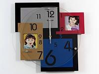 Часы настенные на 2 ассиметричных фото