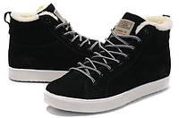 Зимние мужские кроссовки Adidas Runsom Fur (Адидас) с мехом черные
