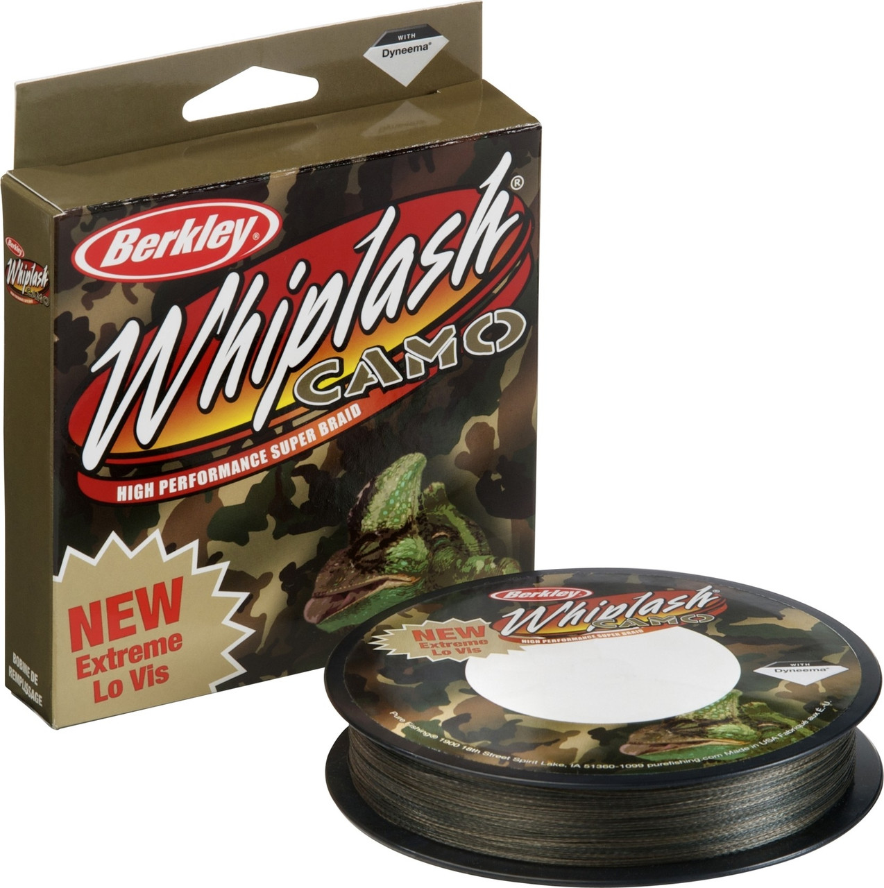 Шнур Berkley Whiplash Camo 110 м, 0,1 мм, 14.1 кг (шт.)