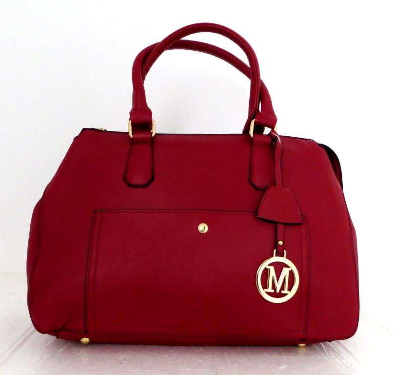Стильна вместительная женская сумка Кожзам. Черная