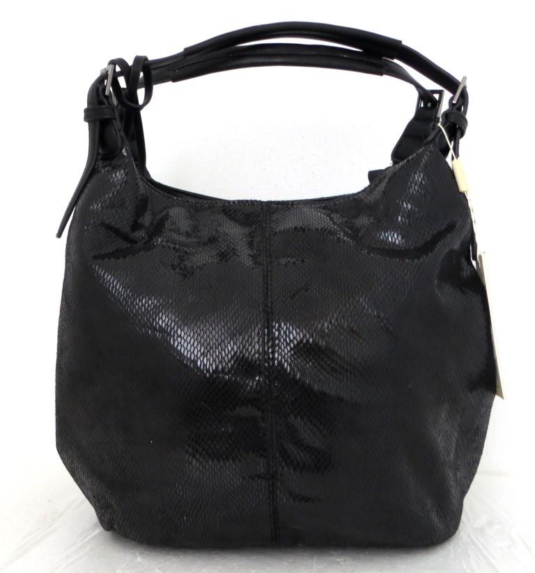Стильная женская сумка-мешок Эко-кожа. Черная