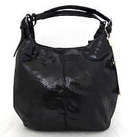 Стильная женская сумка-мешок Эко-кожа. Черная , фото 1
