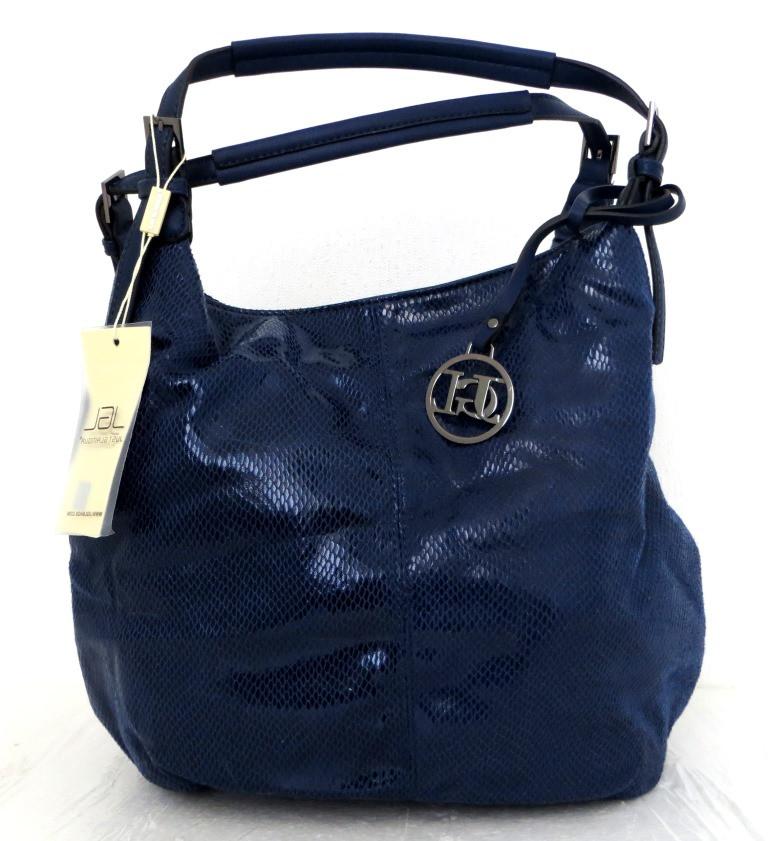 Стильная женская сумка-мешок Эко-кожа. Синяя