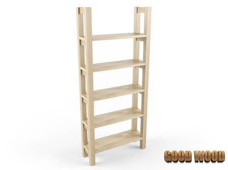 Стеллаж деревянный С-1, ясень или дуб, (Ш900*В2000*Г300)