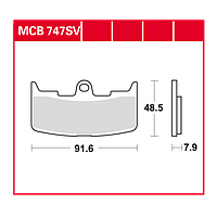 Buell тормозные колодки комплект TRW / Lucas MCB747SV