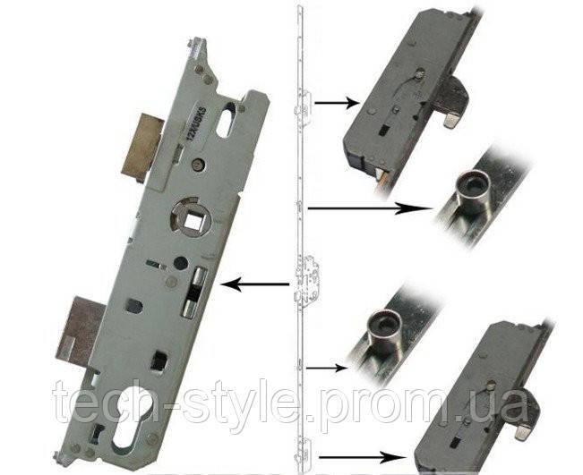 Замок-рейка от ключа Fuhr, 2 крюка и 2 ролика, 16/35/92 мм