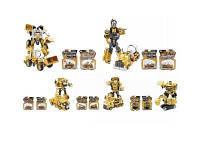 Металлический робот-трансформер 5 видов, конструктор робот трансформер металлический, игрушка трансформер