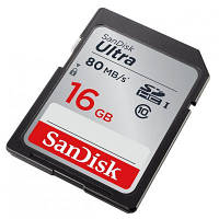 Карта памяти SANDISK 16GB SDHC Ultra Class 10 UHS (SDSDUNC-016G-GN6IN)