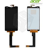 Дисплей + сенсорный экран (touchscreen) для Acer Liquid S1 Duo S510, черный, оригинал