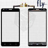 Сенсорный экран (touchscreen) для Fly IQ456 Era Life 2, черный, оригинал