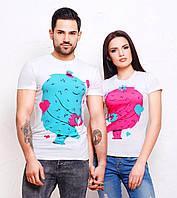 Парные футболки для влюбленных с монстрами