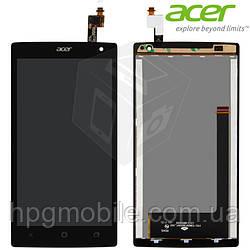 Дисплейный модуль (дисплей + сенсор) для Acer Liquid Z5 Z150 Dual Sim, черный, оригинал
