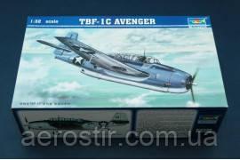 Сборная модель самолета TBF-1C ' AVENGER '    1\32      TRUMPETER