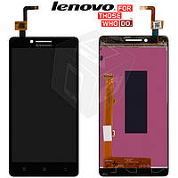 Дисплейный модуль (дисплей + сенсор) для Lenovo A6000 / A6010, черный, оригинал