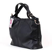 Большая черная сумка мешок шоппер №1356m