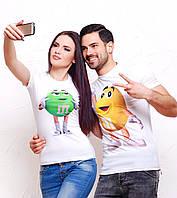 Парные футболки для влюбленных с M&M'S