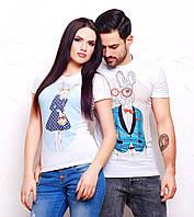"""Парные футболки для влюбленных """"Кролики"""""""