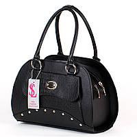 Дамская деловая сумка женская черная №1354mk