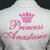 Халат махровый  с короной и надписью - Princess