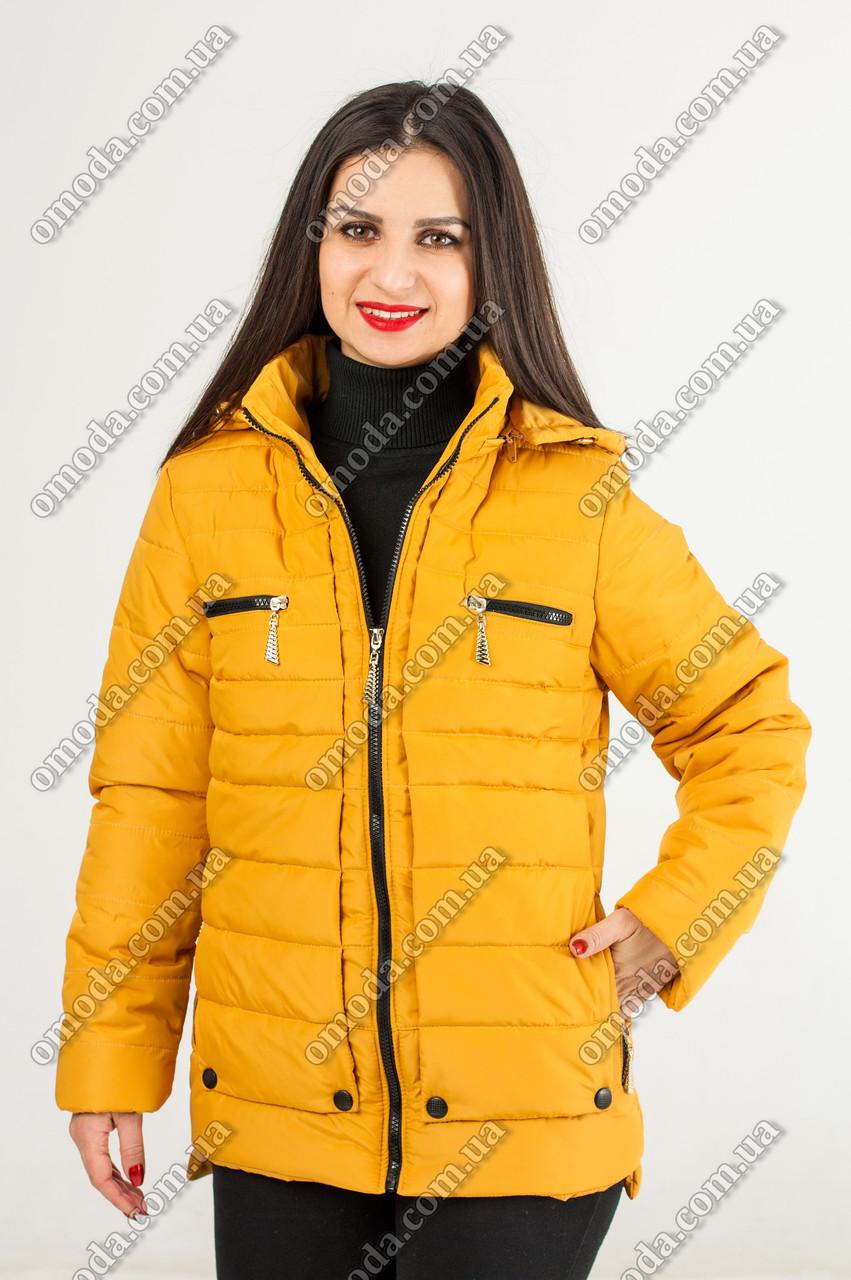 Женская весенняя куртка Джени желтого цвета