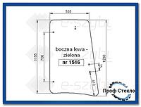 Стекло экскаватор-погрузчик JCB 3CX 4CX kabina P21-левая сторона версия І 827/80248