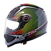 Шлем мото LS2 FF322 Wardots, Black Iris, S