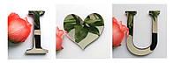Подарок день Св. Валентина, Я люблю тебя, I Love you, надпись, наклейка