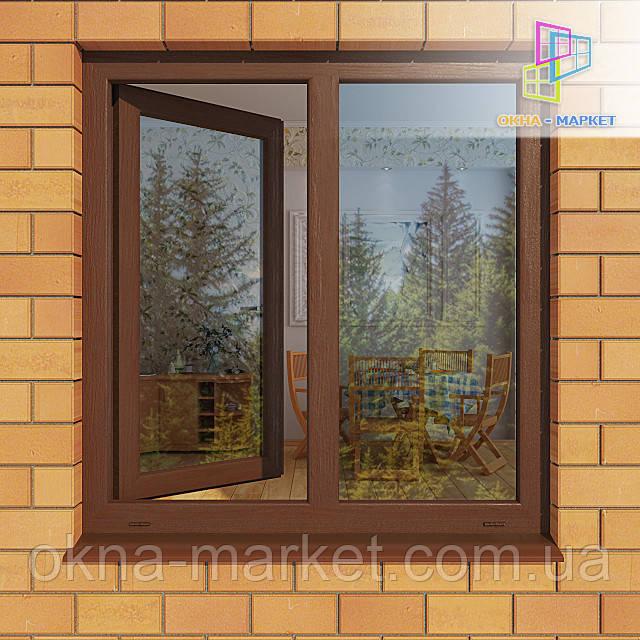 Двустворчатое ламинированное окно. Ламинированные окна. Ламинированное окно.