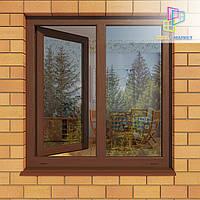 Двустворчатое ламинированное окно. Ламинированные окна. Ламинированное окно., фото 1