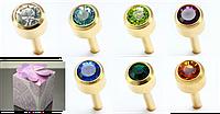 """Набор серег """"Неделька"""", 7 пар серег-пусетов с цветными кристаллами БИЖУТЕРИЯ"""