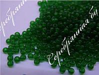 Бисер натуральный непрозрачный зелёный 52240 Чехия Preciosa