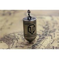 Уникальный сувенир брелок пуля World of Tanks подвеска на ключи