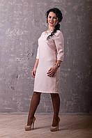 Нарядное прилегающее платье с вырезом на спине - Роза (Розовое)