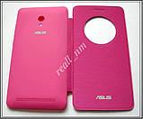 Розовый чехол View Flip Cover для смартфона Asus ZenFone 6, фото 5