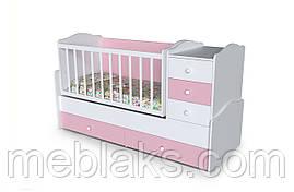 """Кроватка-Трансформер """"Жемчужина"""" для новорожденных 4 в 1 (стол+комод) от 0 до 15 лет"""
