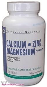 Комплекс микроэлементов Calcium-Zinc-Magnesium (100 табл.) Universal Nutrition
