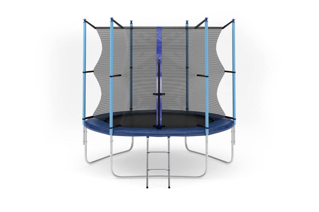 Батут с внутренней сеткой и лестницей 244 см (8 ft) бренда Hop-Sport