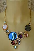 Ожерелье женское колье модное металл ювелирная бижутерия 5029